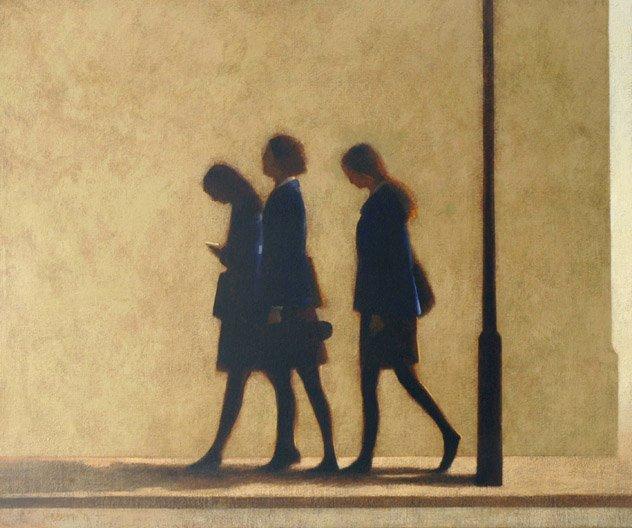 Morning in the City (Schoolgirls) by Clive Jebbett