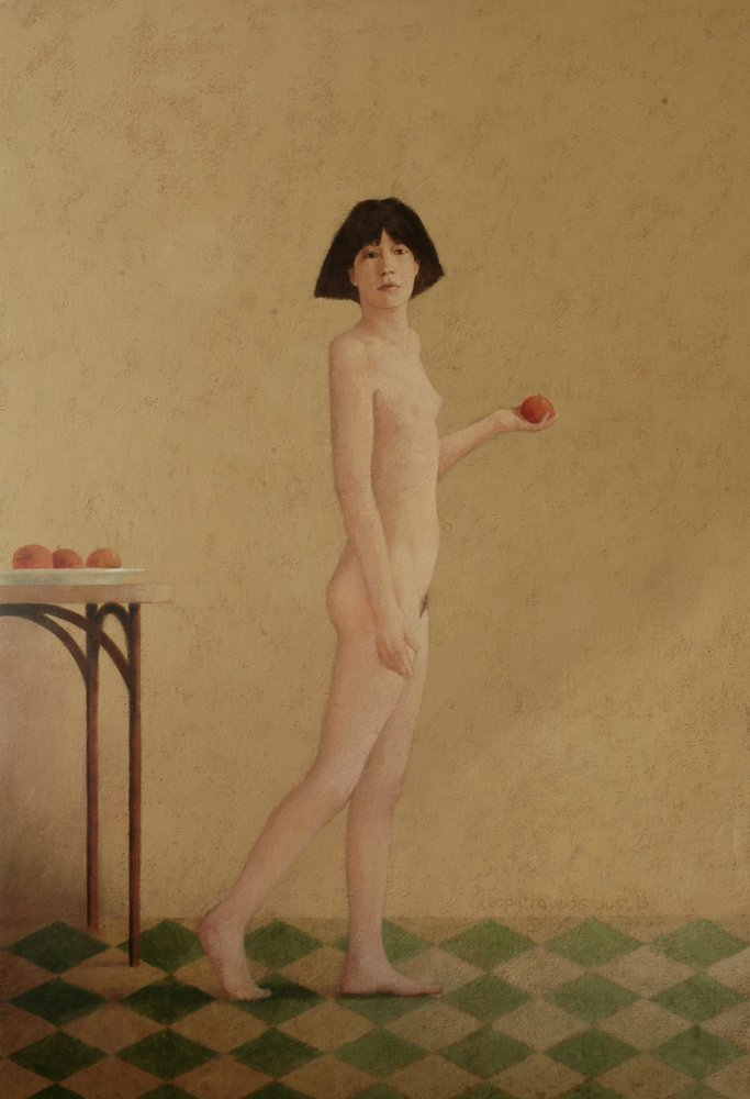 Girl with Apple (IV) by Clive Jebbett