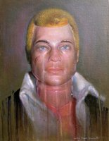 Action man doll painting
