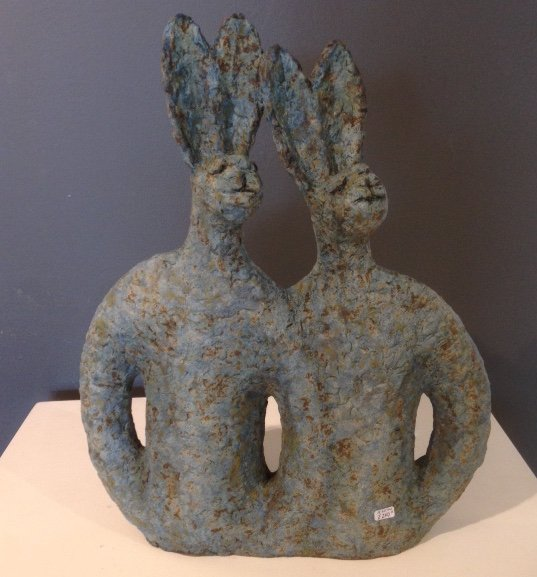 Hare Couple by Lilia Umaña-Clarke