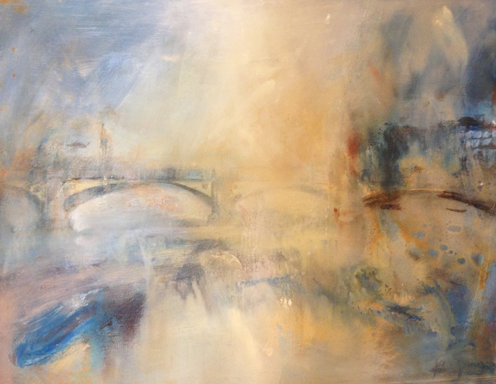 Battersea Bridge from the Gardens by Steve Slimm