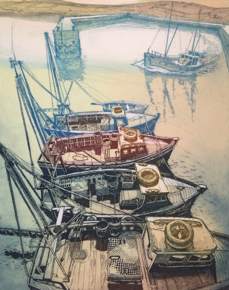 Padstow Boats by Tim Slatter