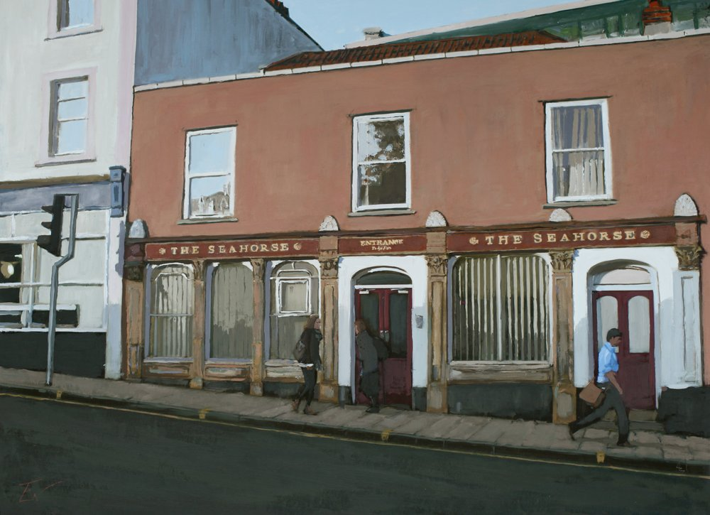 the pub, Upper Maudlin Street, Bristol. by Tom White.