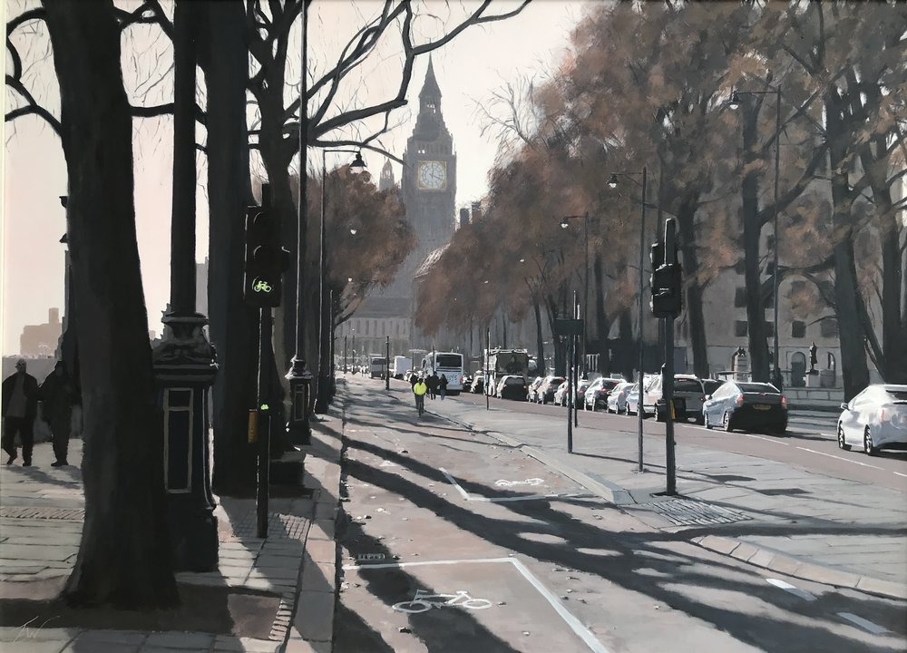 Elizabeth Tower from the Embankment by Tom White