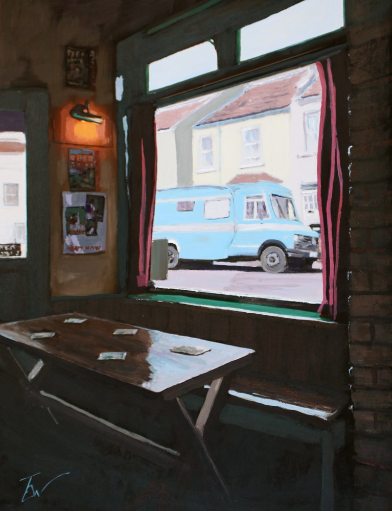 Blue Camper from The Miner's Arms by Tom White