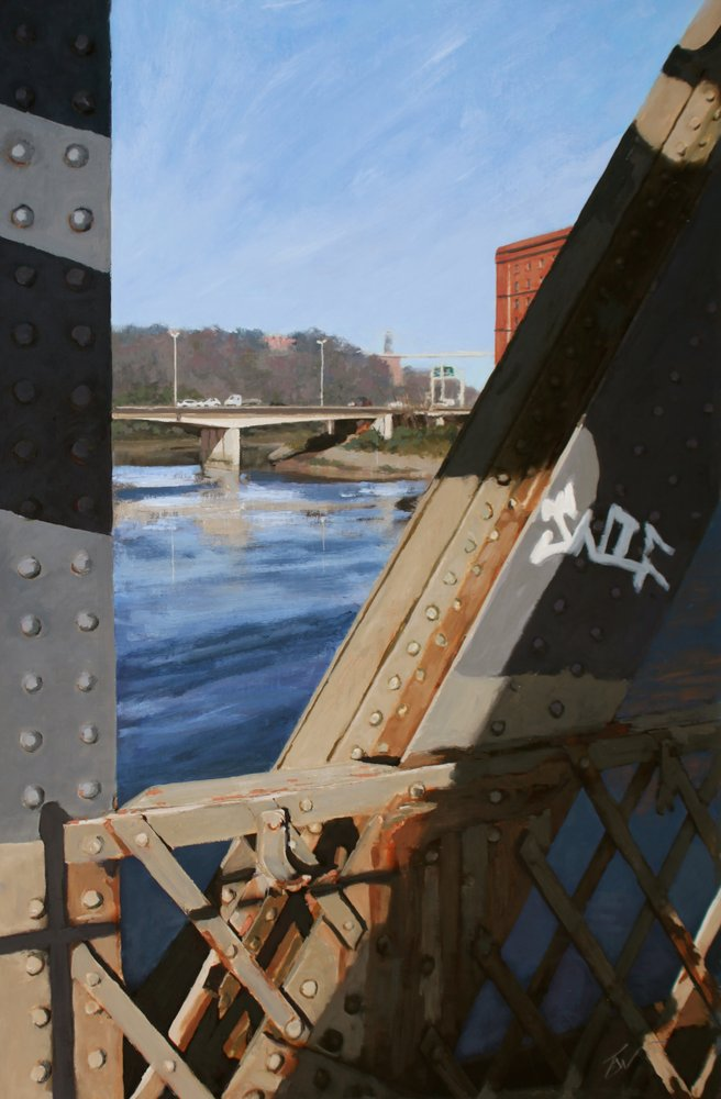graffiti on Ashton Avenue Bridge, Bristol. by Tom White.