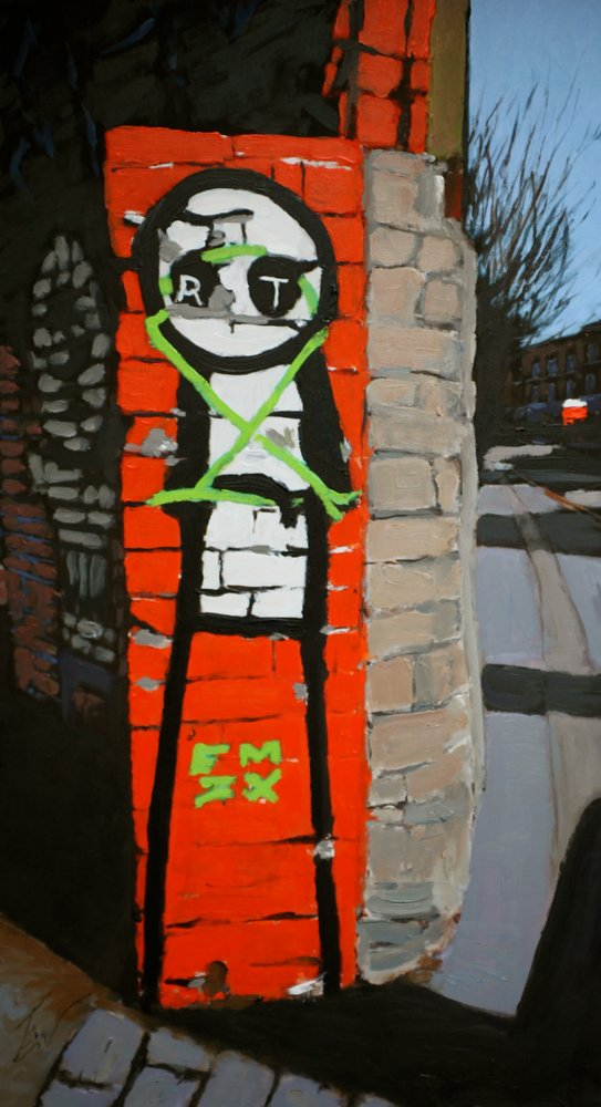 A painting of graffiti in Montpelier, Bristol by Tom White.