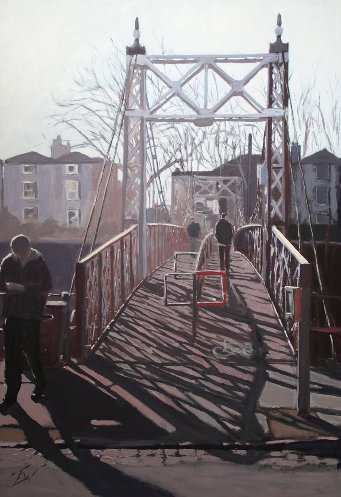 Gaol Ferry Bridge, Cumberland Road, Bristol. by Tom White.
